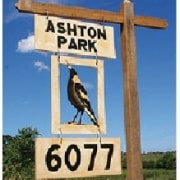 Sign for Ashton Park Address