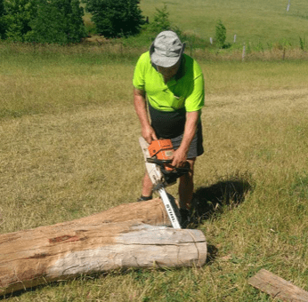 Chain saw guru at Ashton Park