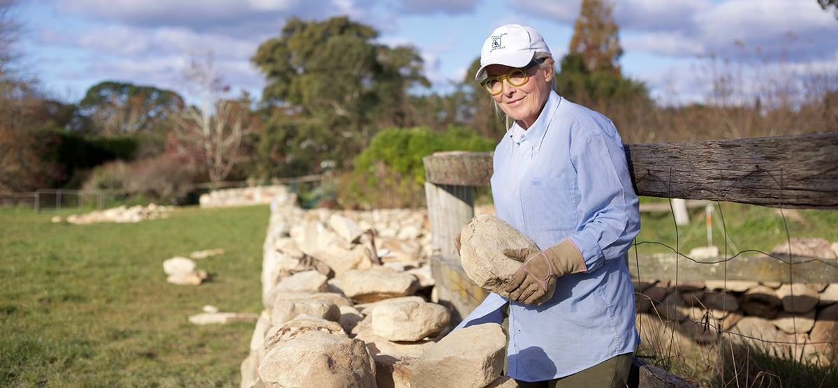 Dry Stone Wall building workshop at Ashton Park Moss Vale