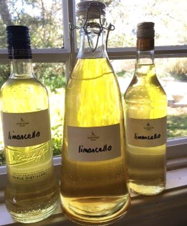 Lemoncello ready to enjoy