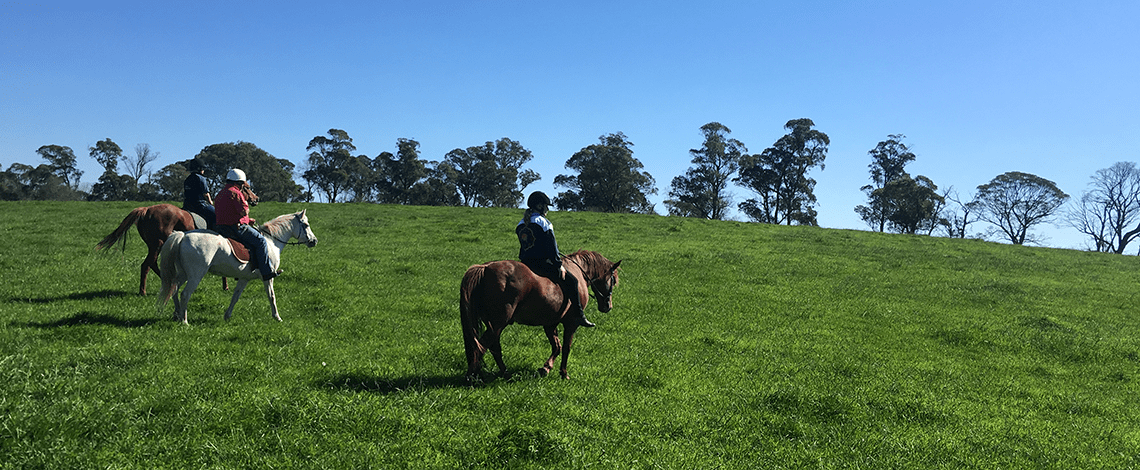 Horse riding at Ashton Park Moss Vale