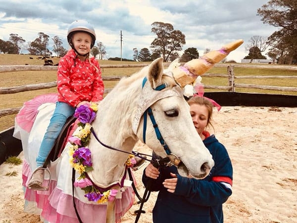 Unicorn pony party at Ashton Park Moss Vale